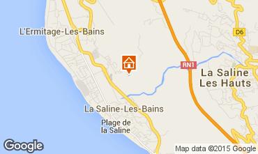 Map La Saline les Bains Villa 75877