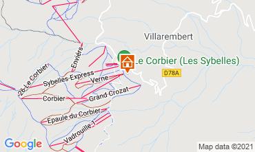 Map Le Corbier Studio apartment 992