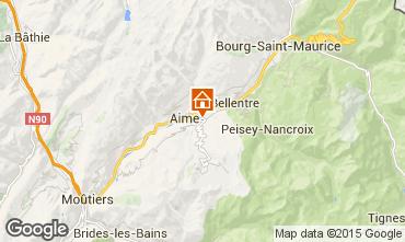 Map La Plagne Chalet 64818