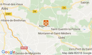 Map Uzès Self-catering property 68063