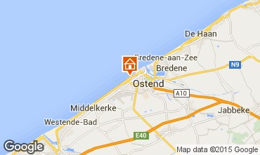 Map Ostend Studio apartment 16612