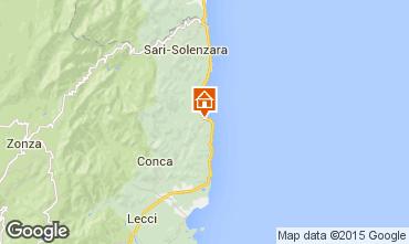 Map Ste Lucie de Porto Vecchio Villa 69199