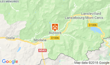 Map Aussois Self-catering property 116674