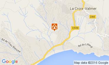 Map La Croix Valmer Apartment 103578