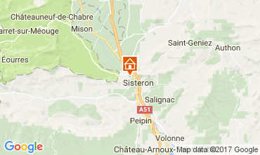 Map Sisteron Self-catering property 110860