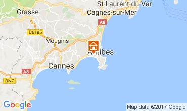 Map Juan les Pins Apartment 112158