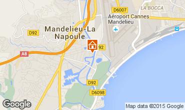 Map Mandelieu la Napoule Studio apartment 65092