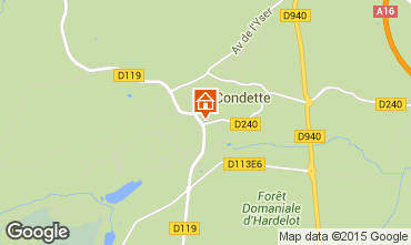 Map Hardelot Self-catering property 76256