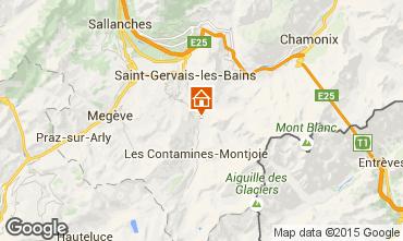 Map Saint Gervais Mont-Blanc Apartment 18013