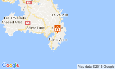 Map Sainte Anne (Martinique) Villa 73359
