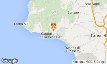 Map Castiglione della Pescaia Apartment 74791