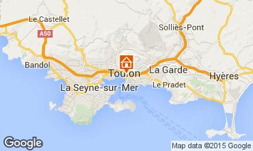 Map Toulon Apartment 101185