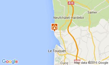 Map Le Touquet Apartment 105993