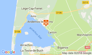 Map Lanton Villa 110595