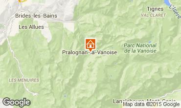 Map Pralognan la Vanoise One-room studio flat 76949