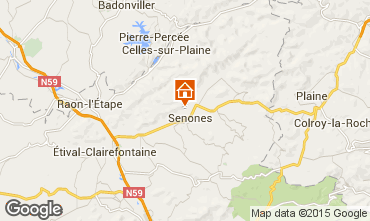 Map Gérardmer Chalet 92467