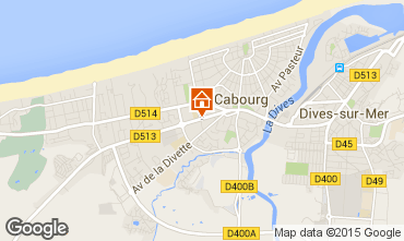 Map Cabourg Apartment 97157
