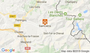 Map Samoëns Studio apartment 73559