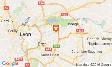 Map Lyon Self-catering property 107380