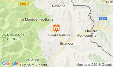 Map Serre Chevalier Apartment 60452