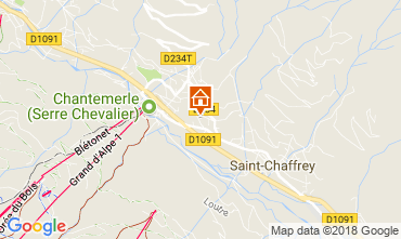 Map Serre Chevalier Apartment 60452
