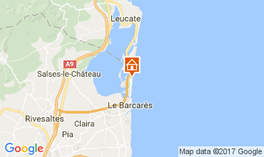 Map Le Barcares House 107704