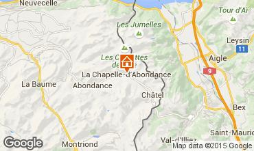 Map La Chapelle d'Abondance Apartment 68203