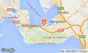 Map Martigues Self-catering property 77133