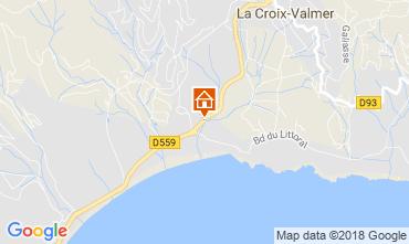 Map La Croix Valmer Apartment 114700