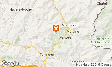 Map Les Gets Apartment 1352