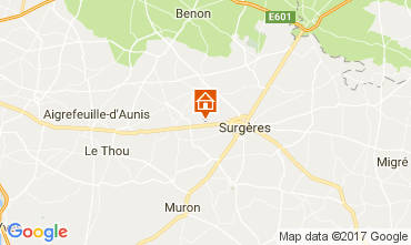 Map La Rochelle Self-catering property 108187