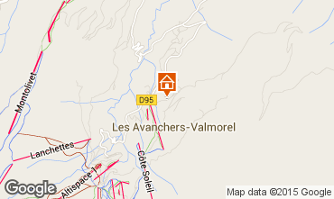 Map Valmorel Apartment 76576