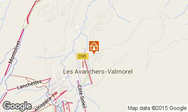 Map Valmorel Apartment 76576