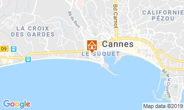 Map Cannes Studio apartment 79486