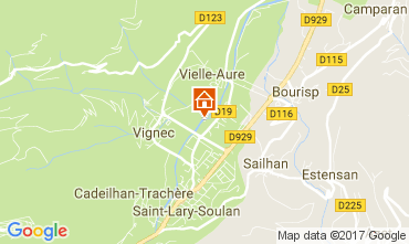 Map Saint Lary Soulan Apartment 112136
