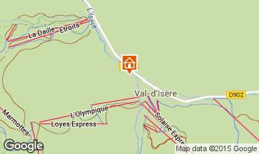 Map Val d'Isère Studio apartment 3353