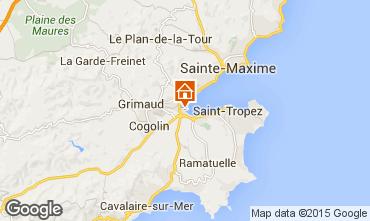Map Saint Tropez Apartment 5689