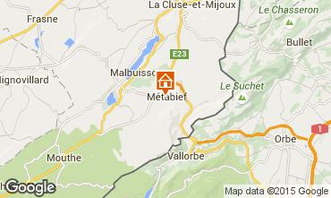 Map Métabief Apartment 63948