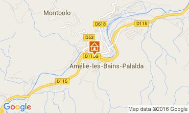 Map Amélie-Les-Bains Studio apartment 18749