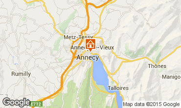 Map Annecy Studio apartment 95281