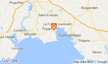 Map Fouesnant Apartment 104743