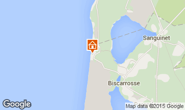 Map Biscarrosse Studio apartment 6547