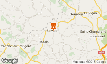 Map Gourdon Self-catering property 102124