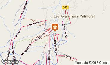 Map Valmorel Apartment 80525