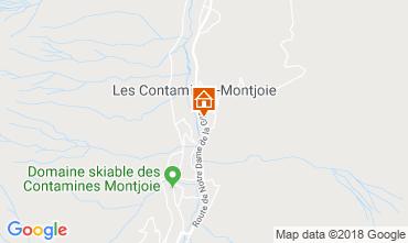 Map Les Contamines Montjoie Apartment 117423