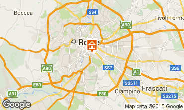 Map Rome Studio apartment 73429
