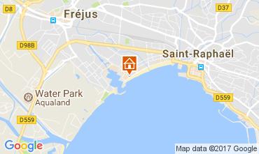 Map Fréjus Studio apartment 8492