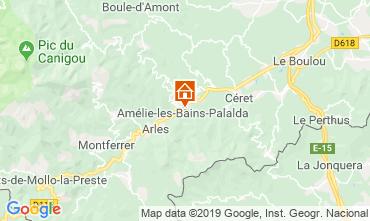 Map Amélie-Les-Bains Studio apartment 118836