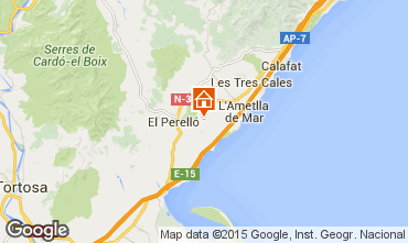 Map La Ametlla de Mar Self-catering property 96099