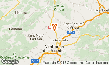 Map Barcelona Self-catering property 17009